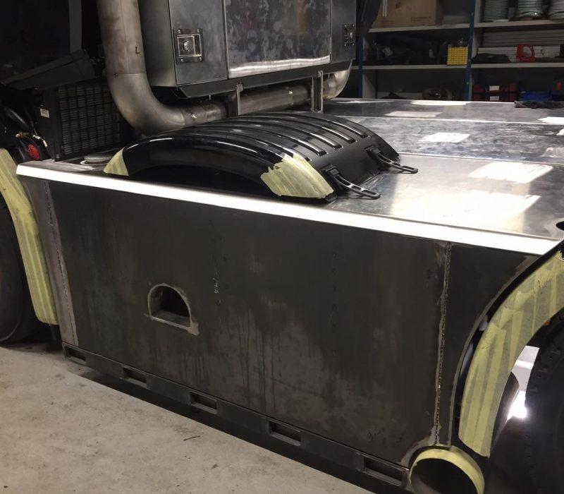 Diesel tank.
